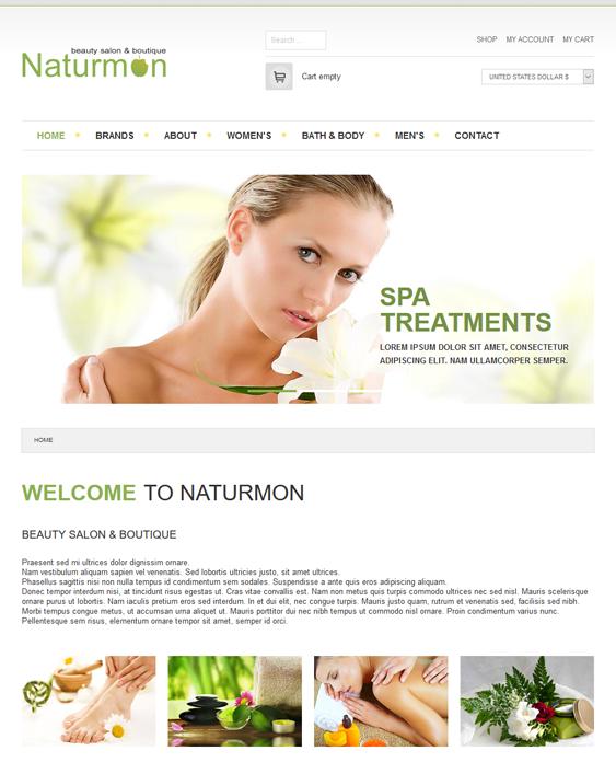 naturmon beauty salon spa joomla templates