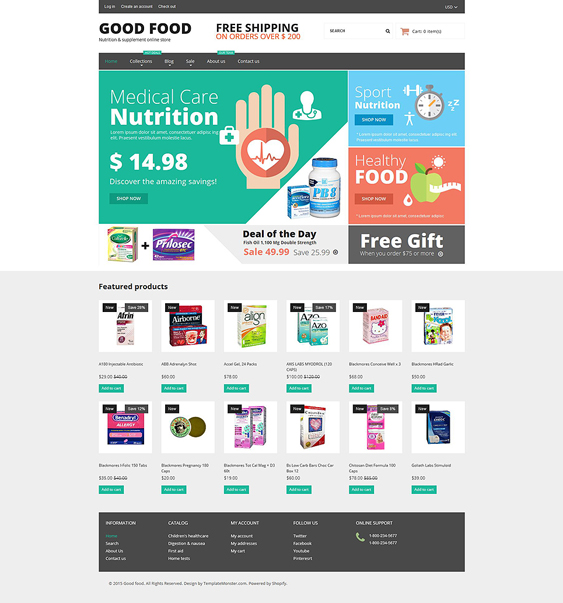 nutrition medical shopify themes