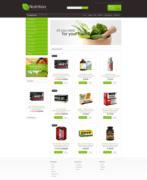 nutrition medical shopify themes 2