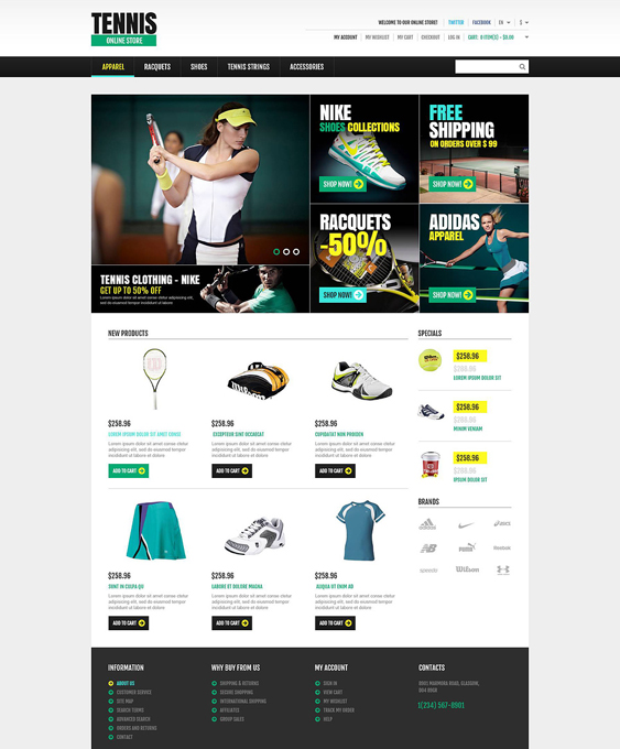 responsive sports fitness magento themes 1
