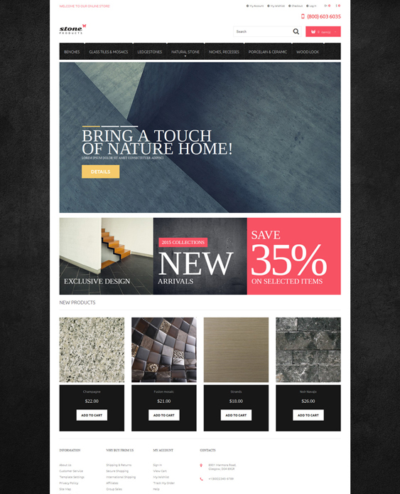 tiles hardware home improvement magento themes
