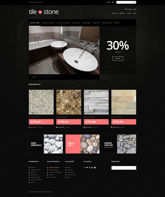tile stone hardware home improvement magento themes