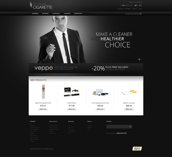 tobacco dark magento themes