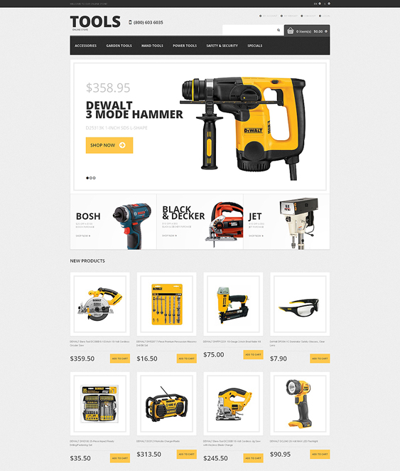 tools2 hardware home improvement magento themes