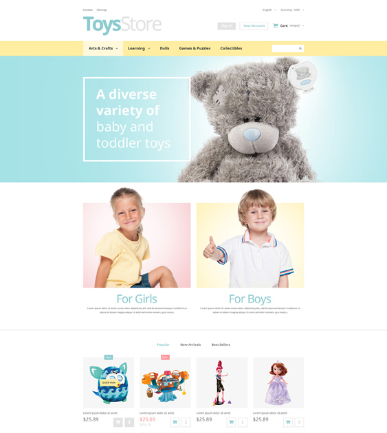 toys shop kids prestashop themes
