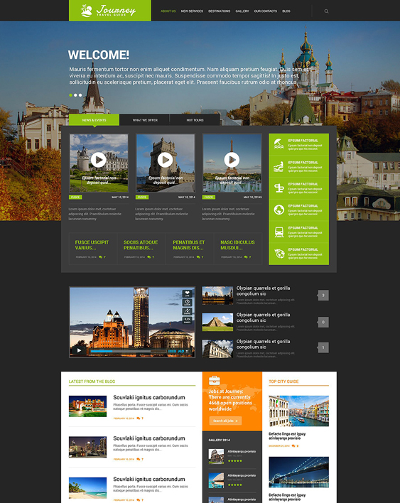 travel guide dark wordpress themes