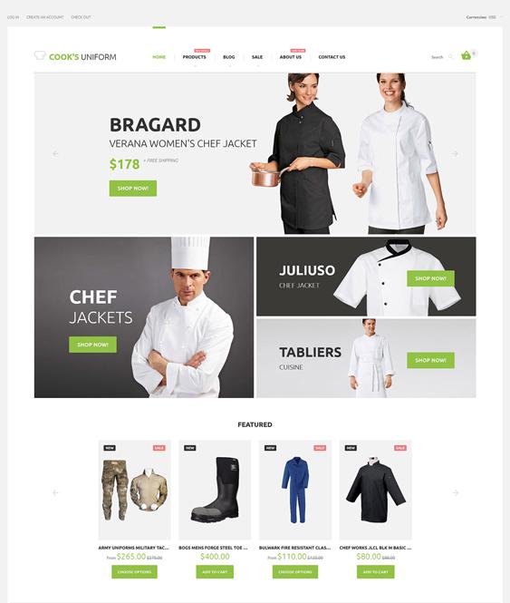 uniform clean shopify themes