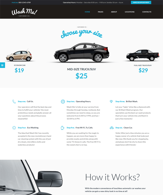 washme car vehicle automotive wordpress themes