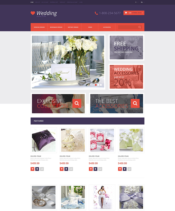 wedding opencart themes 1