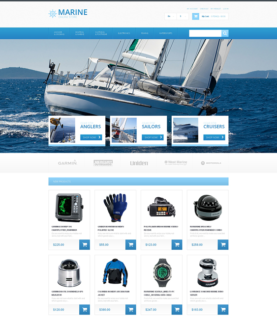 yachting sports fitness magento themes 1