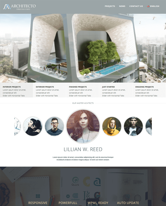 architecto architect wordpress themes