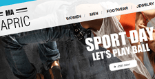 best sports fitness magento themes feature