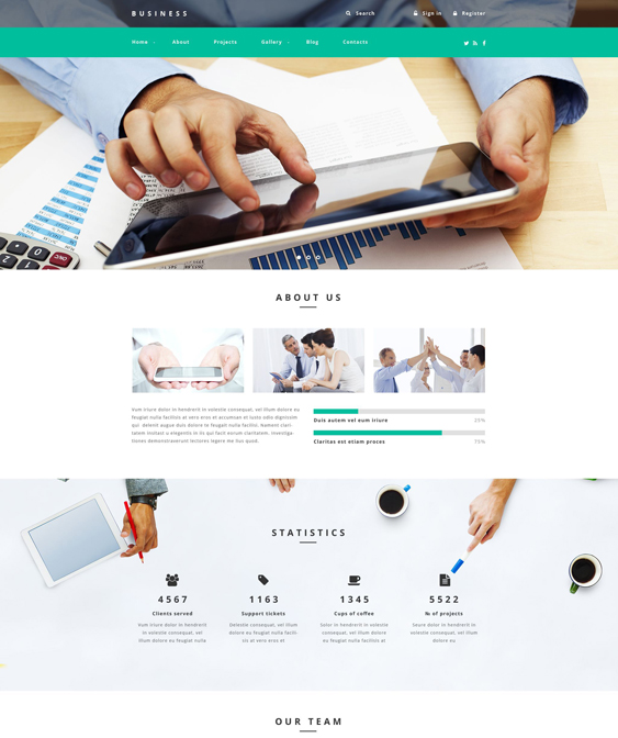business clean drupal themes