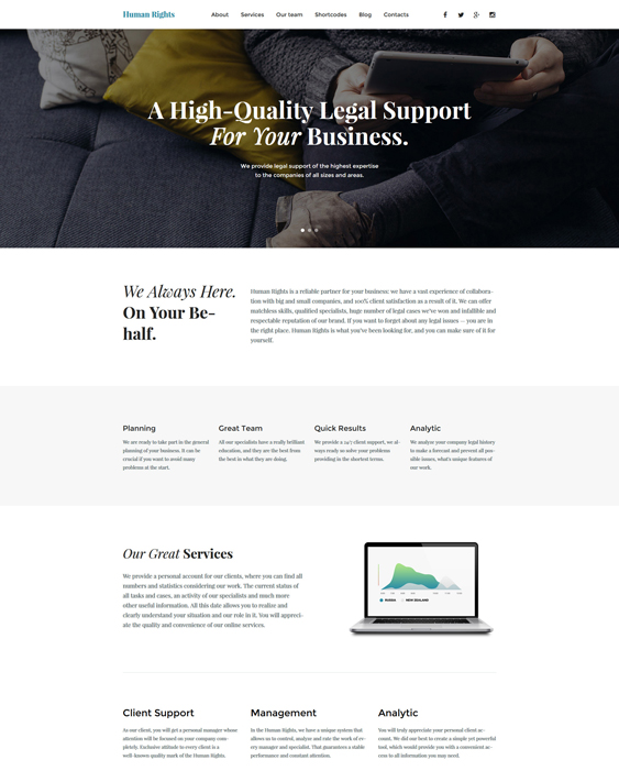 business parallax wordpress themes