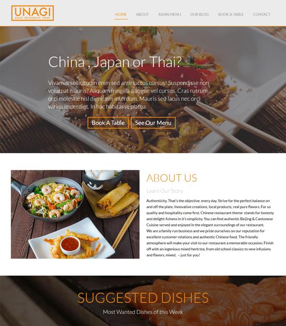 chinese restaurant wordpress themes