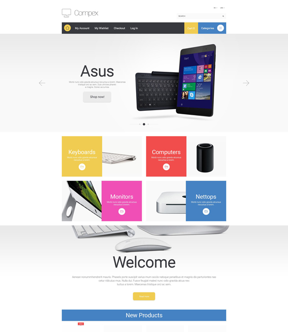 compex magento themes electronic stores