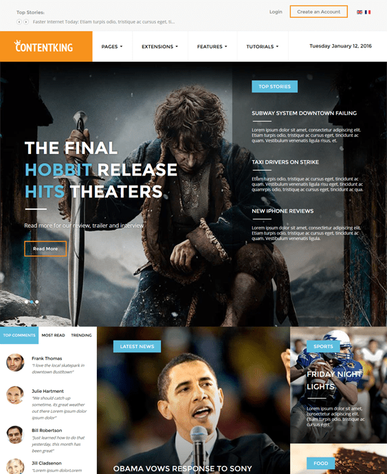 content king news magazine wordpress themes