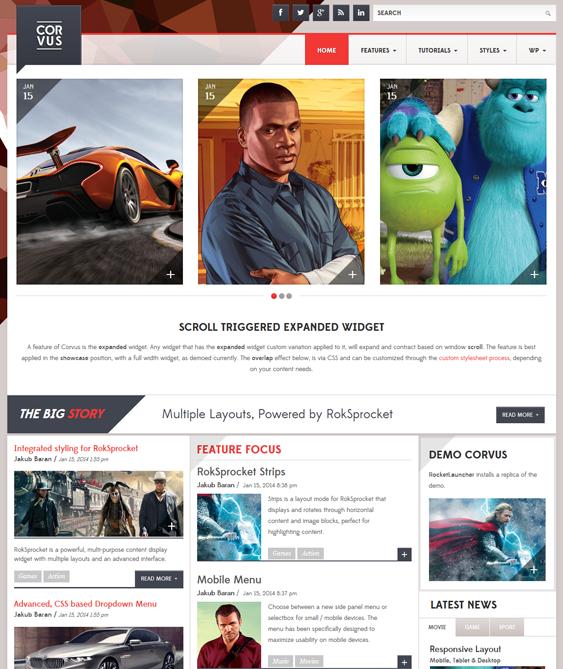 corvus news magazine wordpress themes