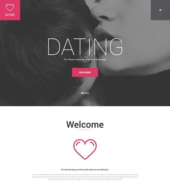 dating parallax wordpress themes