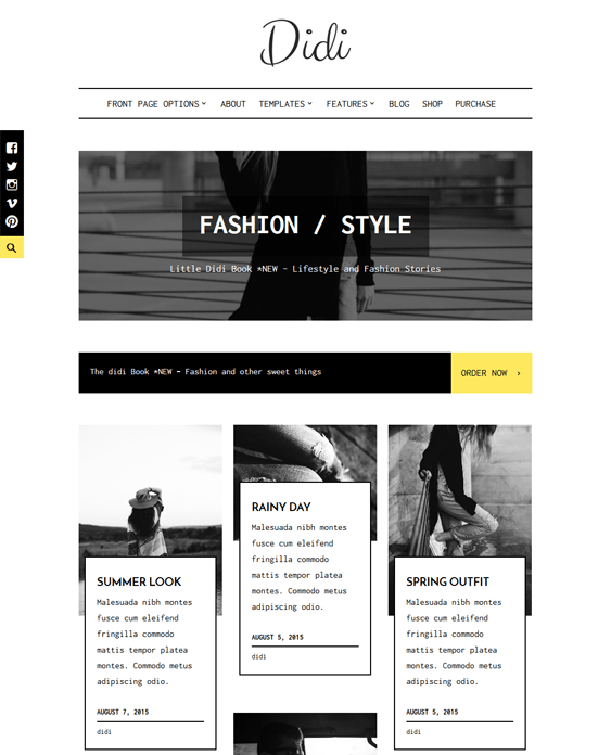 didi fashion blog wordpress themes