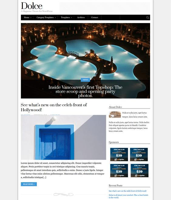 dolce news magazine wordpress themes