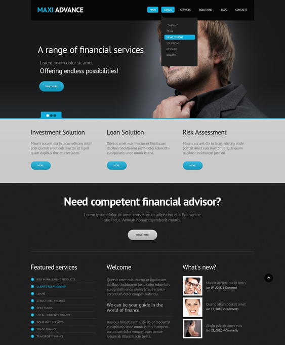 financial joomla templates 6