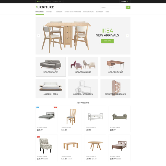 furniture minimal magento themes