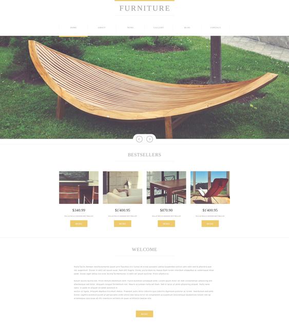 furniture minimal joomla templates