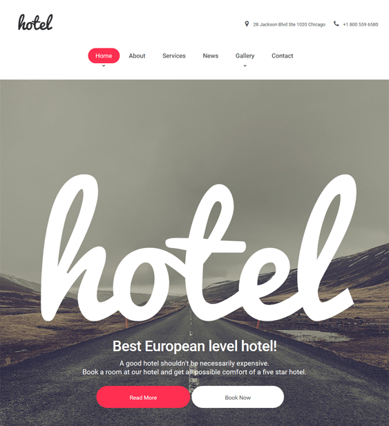 hotel parallax wordpress themes