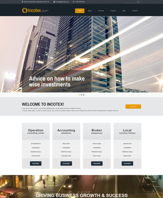 investment financial joomla templates