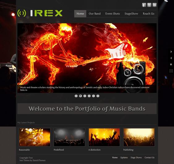 irex music wordpress themes