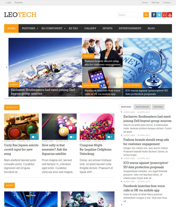 leo tech news magazine joomla templates