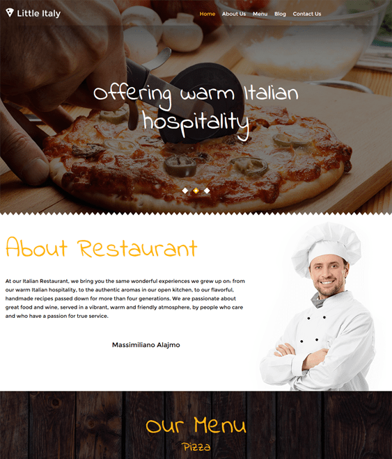 little italy parallax wordpress themes