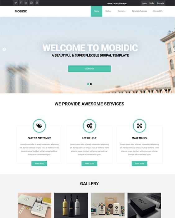 mobidic clean drupal themes