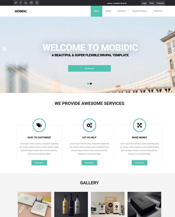 mobidic business drupal themes