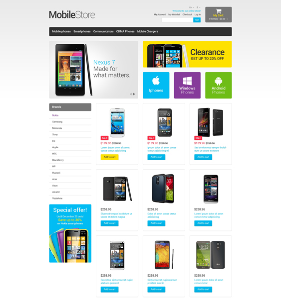 mobile magento themes electronic stores 2