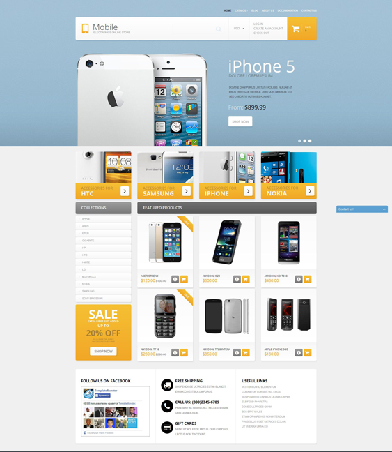 mobile phones electronics shopify themes