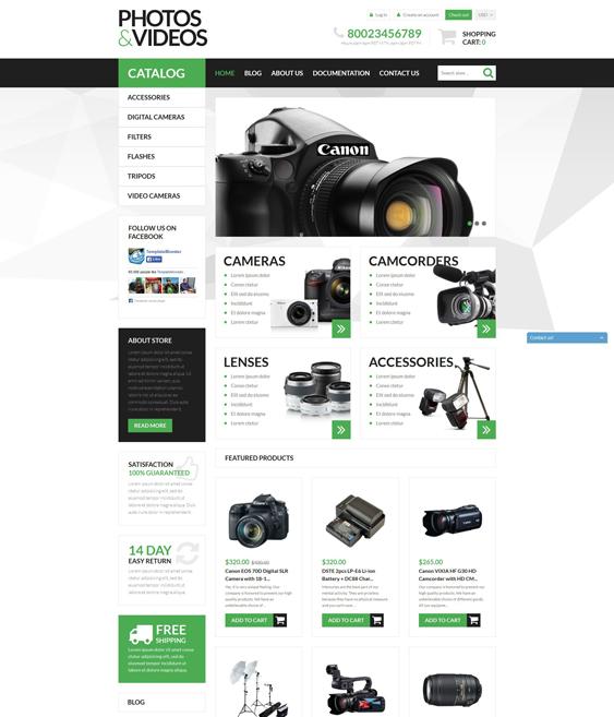 photo electronics shopify themes
