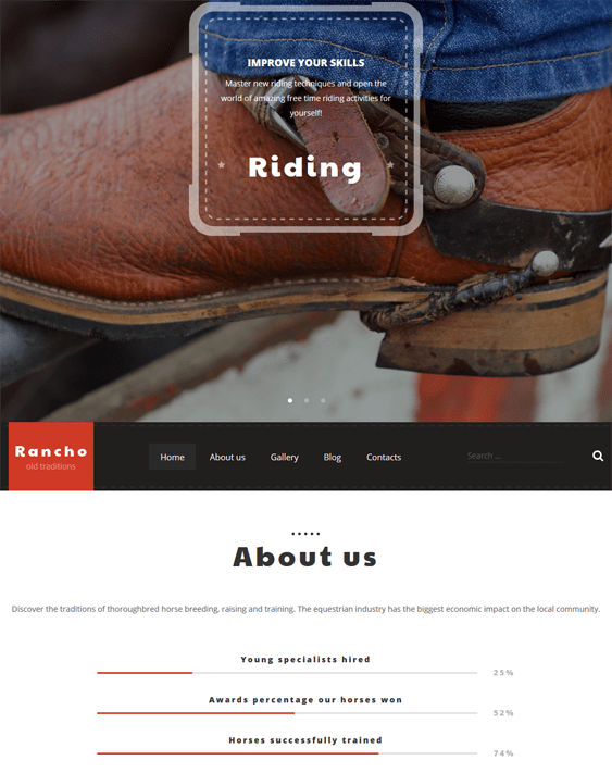 rancho parallax wordpress themes
