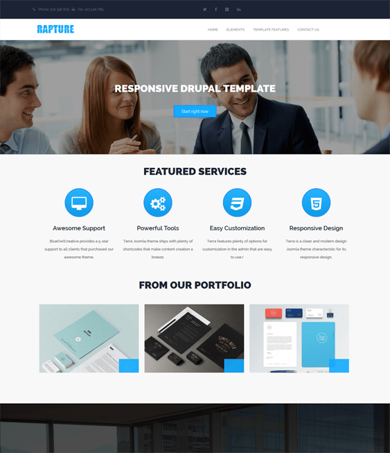 rapture clean drupal themes