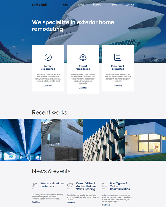 remodell architect wordpress themes