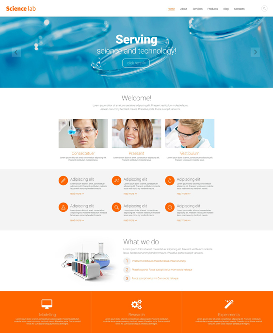 science clean drupal themes
