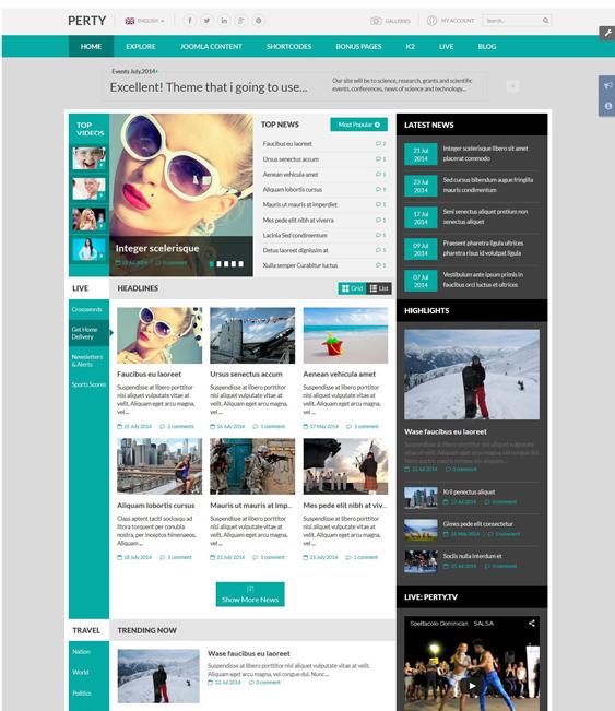 sj perty news magazine joomla templates