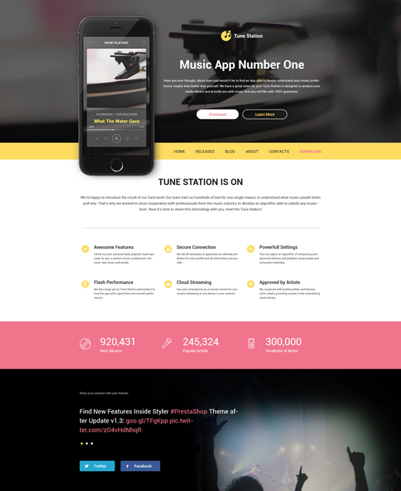 tune parallax wordpress themes