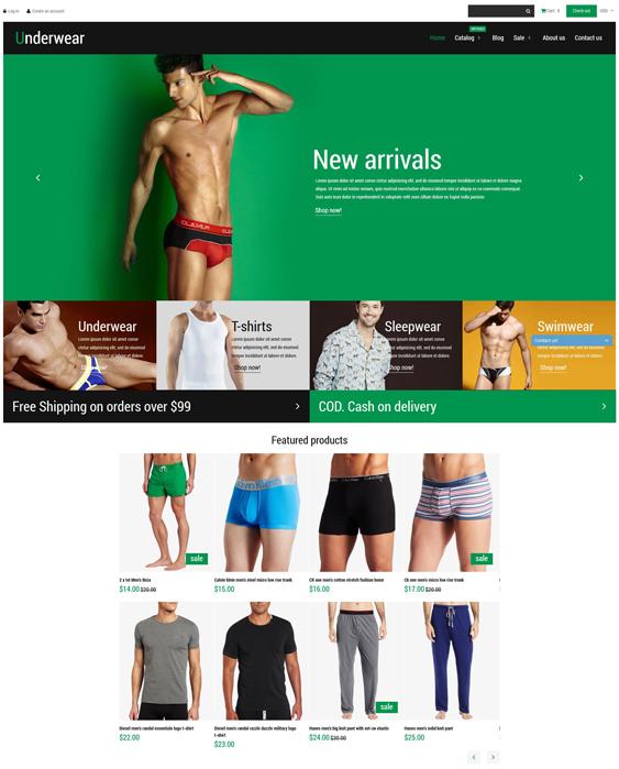 underwear shopify themes