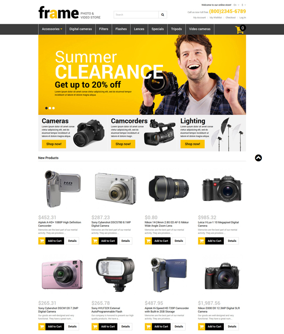 video magento themes electronic stores