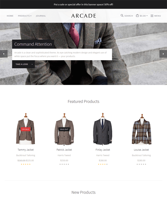 arcade clothing bigcommerce themes