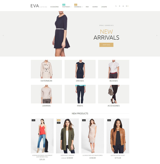 clothes minimal magento themes