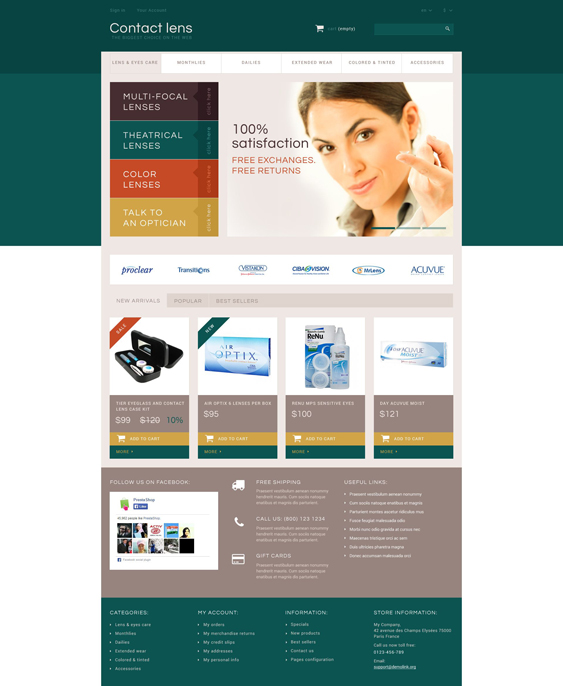 contact lens medical prestashop themes