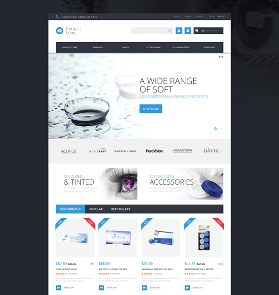 contact lens medical prestashop themes 2